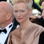 Tilda Swinton attends the gala screening for Moonrise Kingdom at the Palais de Festival. 
