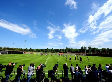 Bayern Munich training today. 