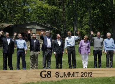Leaders gathered for the Camp David G8 summit.