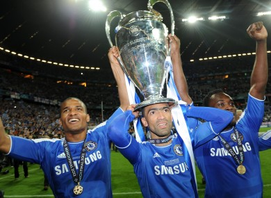 Chelsea's Florent Malouda, Jose Bosingwa and Michael Essien.