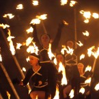 Performers  take part in a two-day Fire Festival in Minsk, Belarus. (AP Photo/Sergei Grits)