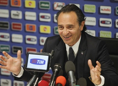 Italian boss Prandelli. 