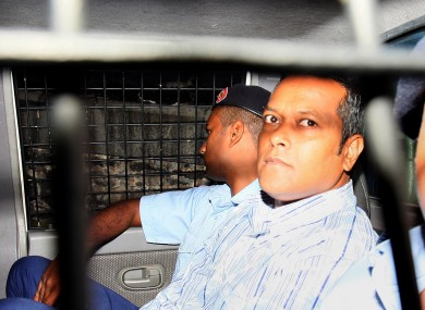 Sandip Moneea arriving at the court this morning