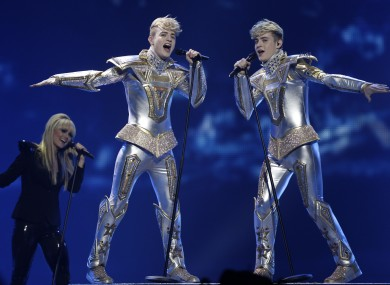 Jedward performing on Tuesday night
