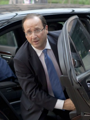 French president Francois Hollande yesterday