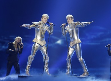 Jedward finished in 19th place in Saturday's contest -