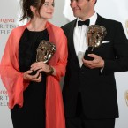Emily Watson and Dominic West at the BAFTA Television Awards 2012 last night