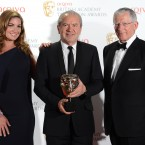 Karren Brady, Lord Sugar and Nick Hewer of The Apprentice at the BAFTA Television Awards 2012, Royal Festival Hall, London.