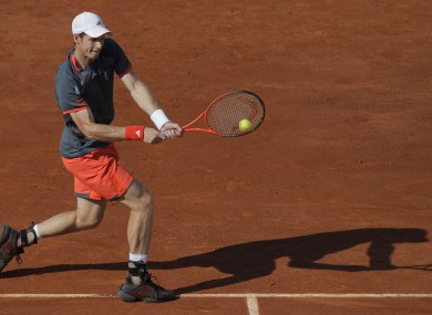 Andy Murray in action against Tatsuma Ito.