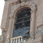 The damaged bell tower of Mirandola's Dome after the earthquake (AP Photo/Gregorio Borgia)