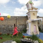 Magda Tatar from Brazil in a garden sponsored by Glenisk Lorax. (Photo: Niall Carson/PA Wire)