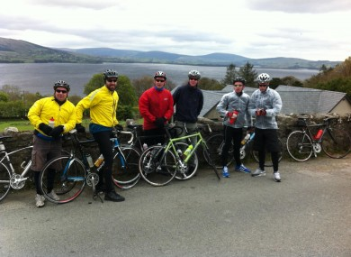 Part of the group out training in Wicklow.
