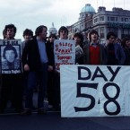 H Block protesters block O'Connell Street in Dublin during the hunger strikes in 1981. 