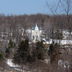 A church on a hillside overlooking Centralia is also still standing. (Image: Wikipedia)