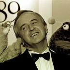 Zig and Zag with Fianna Fáil TD Albert Reynolds at the Television Awards in 1989. 