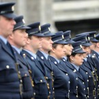 A guard of honour at Dublin Castle for the annual Garda Memorial Day service. (Image: Laura Hutton/Photocall Ireland)