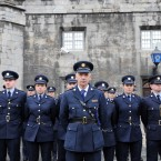 The guard of honour at today's ceremony. (Image: Laura Hutton/Photocall Ireland)