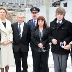 The family of the late Garda Ciaran Jones: (from left) sister Michelle, girlfriend Claire, father John, mother Brenda and brother Alan pictured with Garda Commissioner Martin Callinan and Minister Shatter. (Image: Laura Hutton/Photocall Ireland)