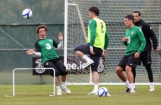 Slideshow: the best pics from Ireland's first pre-Euros training session