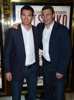 Vitali and Wladimir Klitschko attend the UK premiere of Klitschko at The Empire Leicester Square.