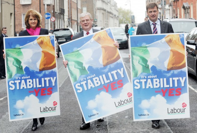 30/04/2012. Labour launch poster campaign for Fisc