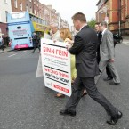 The Labour party launched a referendum poster campaign on 25 May, which they claim highlights Sinn Feins track record of getting it wrong when it comes to major decisions. They launched the campaign outside the Sinn Fin shop on Parnell Sq
