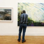 Two paintings on show at the RHA annual exhibit. 