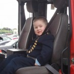 Busy day for Dylan as he is off to Naas fire station.