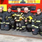 Dylan with his fellow Kildare firefighters