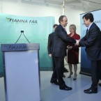 Congratulating Micheál Martin after he was beaten in the contest for the Fianna Fáil leadership in January 2011.