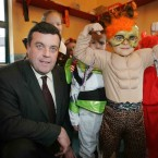 Lenihan with Jessica Deegan (7) from Tallaght, who dressed up for Halloween
