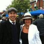 Deputy Eoghan Murphy and Cllr Edie Wynne in Ranelagh