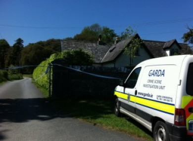 Garda outside Siobhan Stapleton's home in Thomastown.