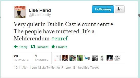 Lise Hand tweet