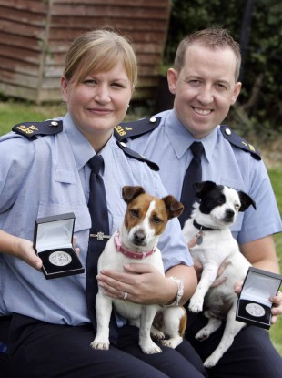 Two of the garda given awards yesterday