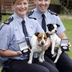 Pictured are Gda Fiona Tighe, who uncovered a puppy farm whose owner was selling the puppies from the boot of his car and Gda Jerome Tully, who removed eight collies from a premises.