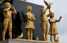 Anger in Russia over live child statues at official's party