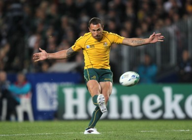 Quade Cooper in action for Australia.
