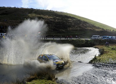 File photo of Ireland's Craig Breen and co driver Britain's Gareth Roberts in action.