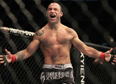 Wanderlei Silva: in action this weekend.