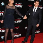 Katie Holmes and Tom Cruise at the premiere of Mission Impossible-  Ghost Protocol in New York last December (Photo: Steven Bergman/UK Press/Press Association Images)