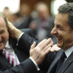 Coming at a time when some critics were dismissive of Enda and his government's deference to other European leaders, this photo of him being nuggied by then-president Nicolas Sarkozy seemed spectacularly ill-timed and badly thought out.  (AP Photo/Geert Vanden Wijngaert)