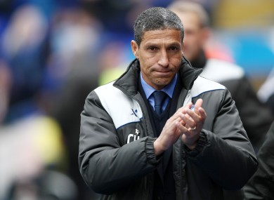 On the move: Chris Hughton.