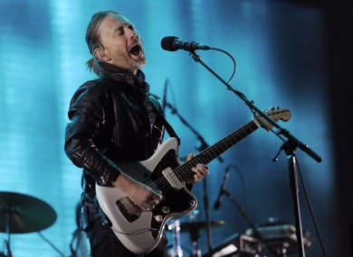 Thom Yorke performing at Coachella in April