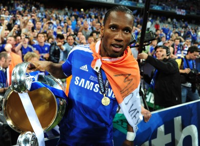 Drogba: left Stamford Bridge for Shanghai.