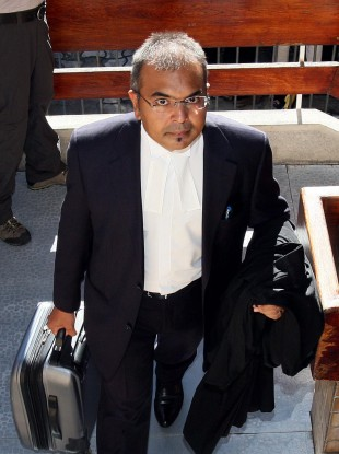 Defence counsel Sanjeev Teeluckdharry claimed the judge had acted inappropriately when he interrupted the questioning of a witness earlier this week. 