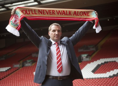 Rodgers at Anfield this morning. 