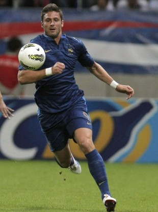 Giroud featured for France at Euro 2012. 