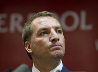 Liverpool's new manager Brendan Rodgers.
