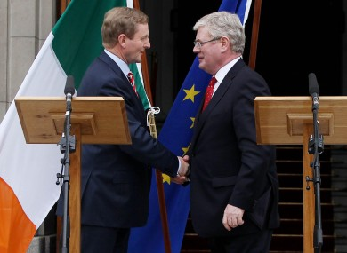Enda Kenny and Eamon Gilmore after the fiscal treaty referendum earlier this month